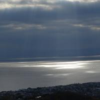 光のシャワー 🚿 当たった部分だけ海がキ...