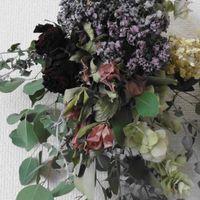 ドライフラワー スワッグ花束💐 紫陽花 ...