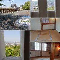 岡山県津山市の津山城です。  展望台に...