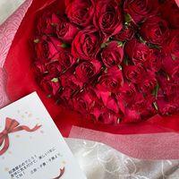 3人娘からの還暦プレゼント 赤バラ60本