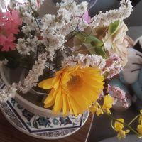 父の日プレゼントの花束💐だいぶ萎れてし...