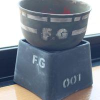 プラスチックの茶碗は鉢に、 机の高さ調...