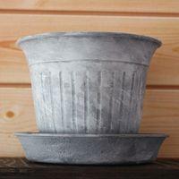これは100均の鉢ノリメイクです。 塗っ...