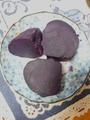 立派なキャベツとったどー(^O^) 紫イモ
