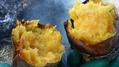 田んぼで焼き芋