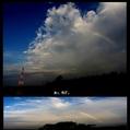 朝焼けと虹と白鷺と。ウォーキングMS④190日目(1285日目)