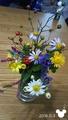 散歩道のお花とエントランスのお花(^_-)-☆