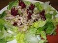 夕飯は がぶりチキン と ローゼルのサラダ