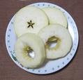 本日のおやつ(リンゴ)
