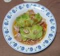 本日の夕食(キャベツ)