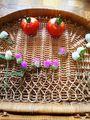 千日紅✨と今朝、採れた大玉トマト