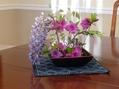 お花を生けてみました+葉野菜