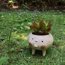 会場のフラワーマルシェにはユニークな陶器作品も登場