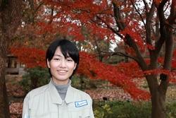 見どころを教えてくれた福岡市植物園の中園千代里さん