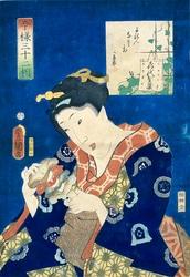 三代歌川豊国画 今様三十二相・よねんなさ相 1859(安政6)年 国立歴史民俗博物館蔵
