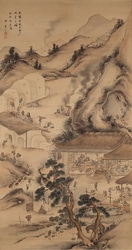 亀井半二「瀬戸陶窯之図(せととうようのず)」天保14(1843)年(愛知県陶磁美術館蔵)。1800年代半ばまで実在した瀬戸の絵付師・亀井半二が焼き物づくりの様子を描いた「瀬戸陶窯之図」。多くの人間の流れ作業で瀬戸焼を生産している。