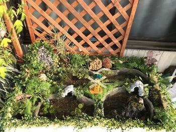 マナハウスのビオトープ♪( ´▽`) 水草植え込み完了♪( ´▽`)