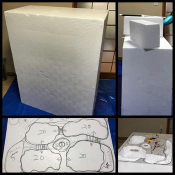 マナハウスのビオトープ♪( ´▽`) 土台の形を作って行きます!
