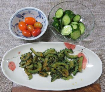 キュウリ栽培から収穫までの一連の流れ 7月25日今日収穫した野菜の手料理