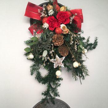 シンフォリカルポス(雪晃木)の白い実を実らせてX'masに飾る! 2020年12月25日
