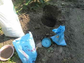 ブドウ栽培リベンジです。 用土の調整