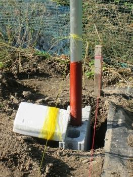 ブドウ栽培リベンジです。 基本となる支柱