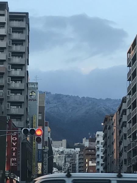 さっむい! 六甲山をのぞむ