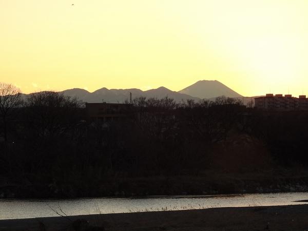 多摩川からの 日没