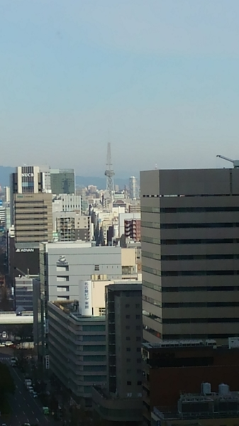 名古屋駅セントラルタワーズから 前方に名古屋テレビ塔