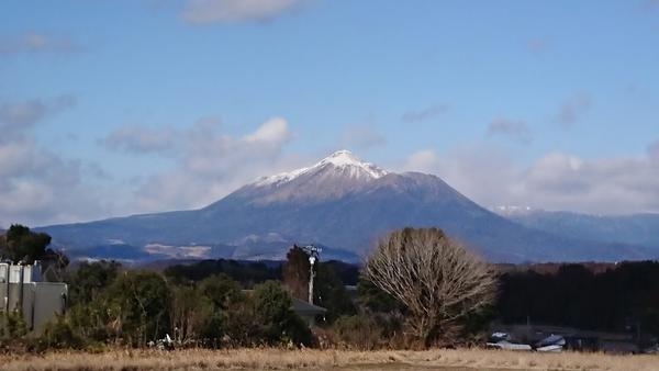 今日は寒かった😱💦 霧島連山にも雪が🗻✨きれいでした!