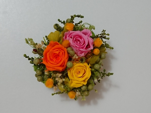 バラのマグネット飾り201901 ドライ