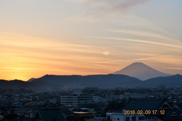良い感じ、10分前の富士の夕暮れ 1週間お仕事ご苦労様