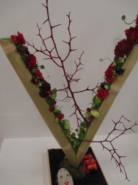 もう1つ、オマケで。昨日は節分でしたね。 関東東海花の展覧会でも、ちょうどタイムリ