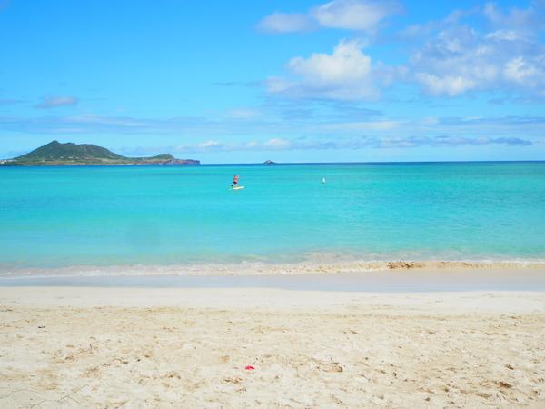 ラニカイビーチは とても静かなビーチ。