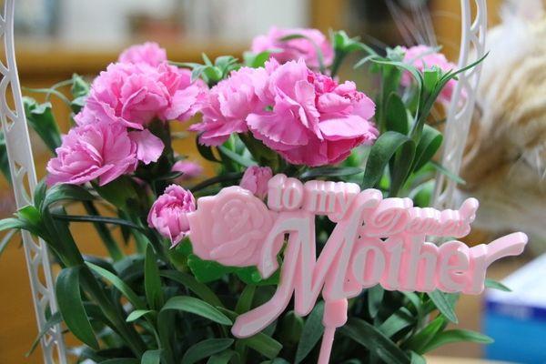 記念日にはお花を