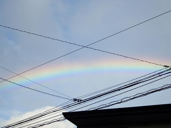 虹がでた!