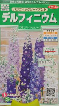 デルフィニウム 種から 2019 種袋